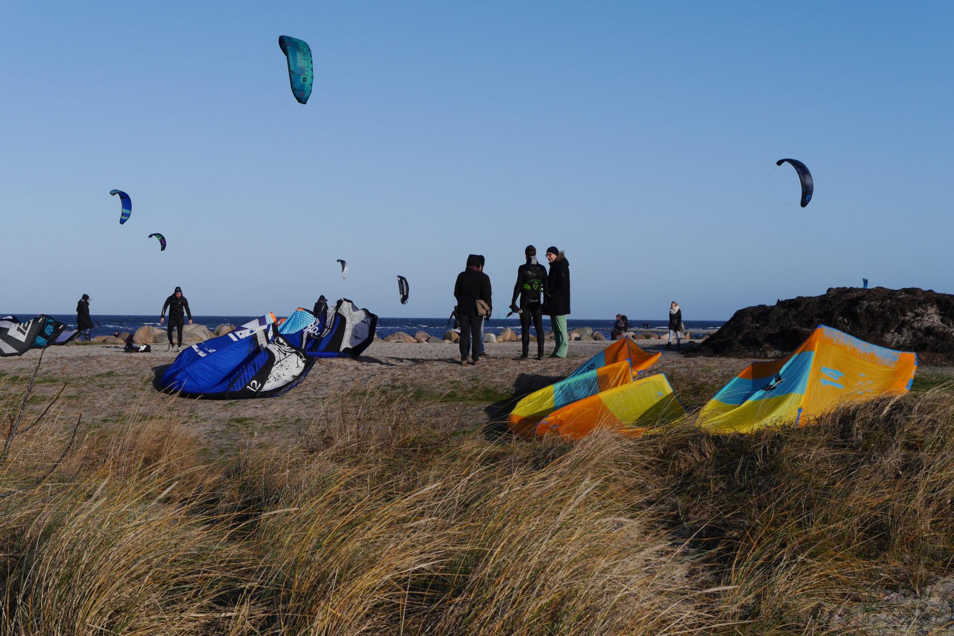 Les kitesurfeurs de Laboe